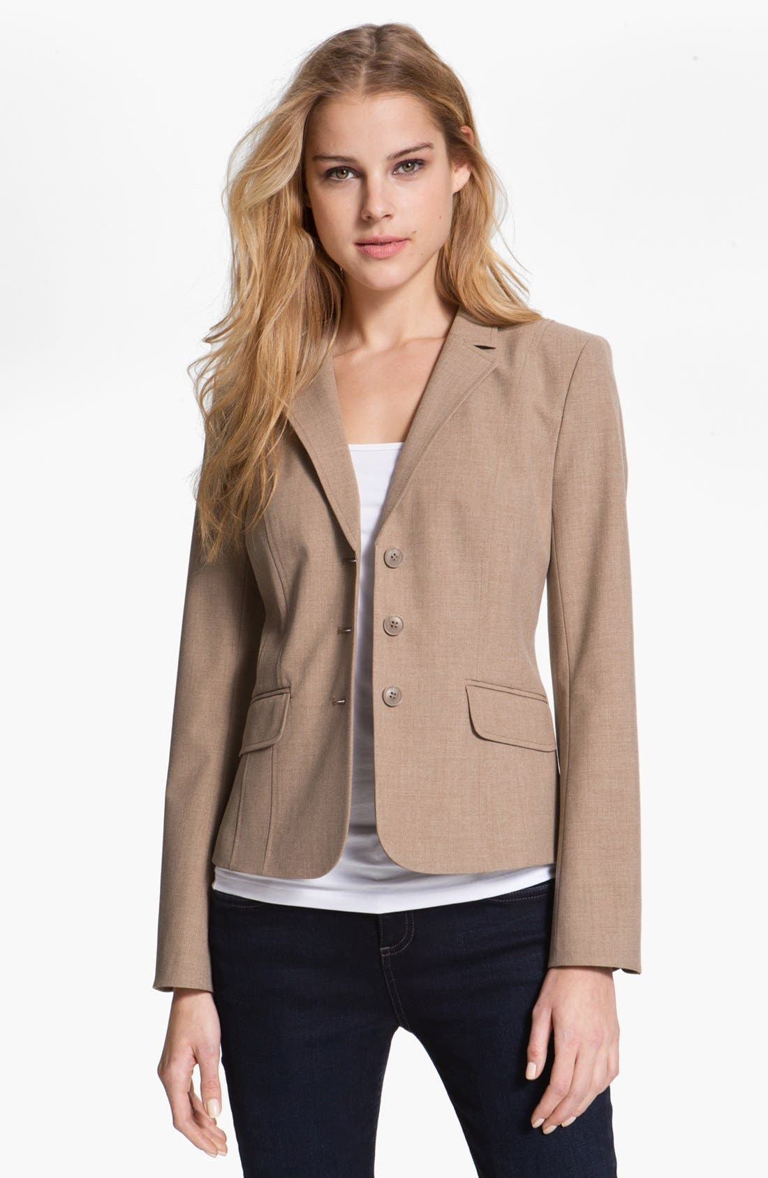 Alternate Image 1 Selected - Halogen® Three Button Jacket (Petite)