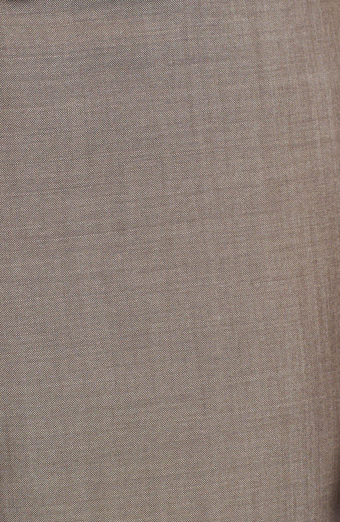 Alternate Image 3  - BOSS HUGO BOSS 'Jeffrey US' Flat Front Pinpoint Wool Trousers