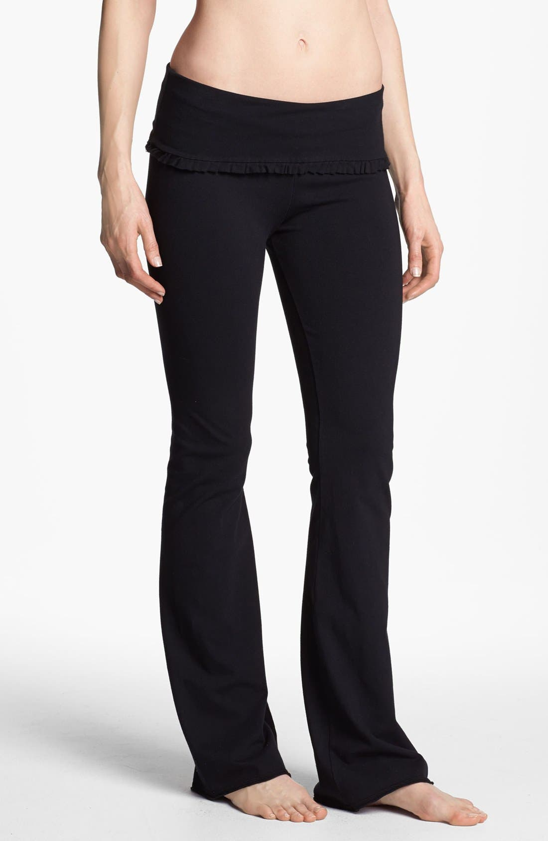 Alternate Image 1 Selected - Solow Ruffle Foldover Pants