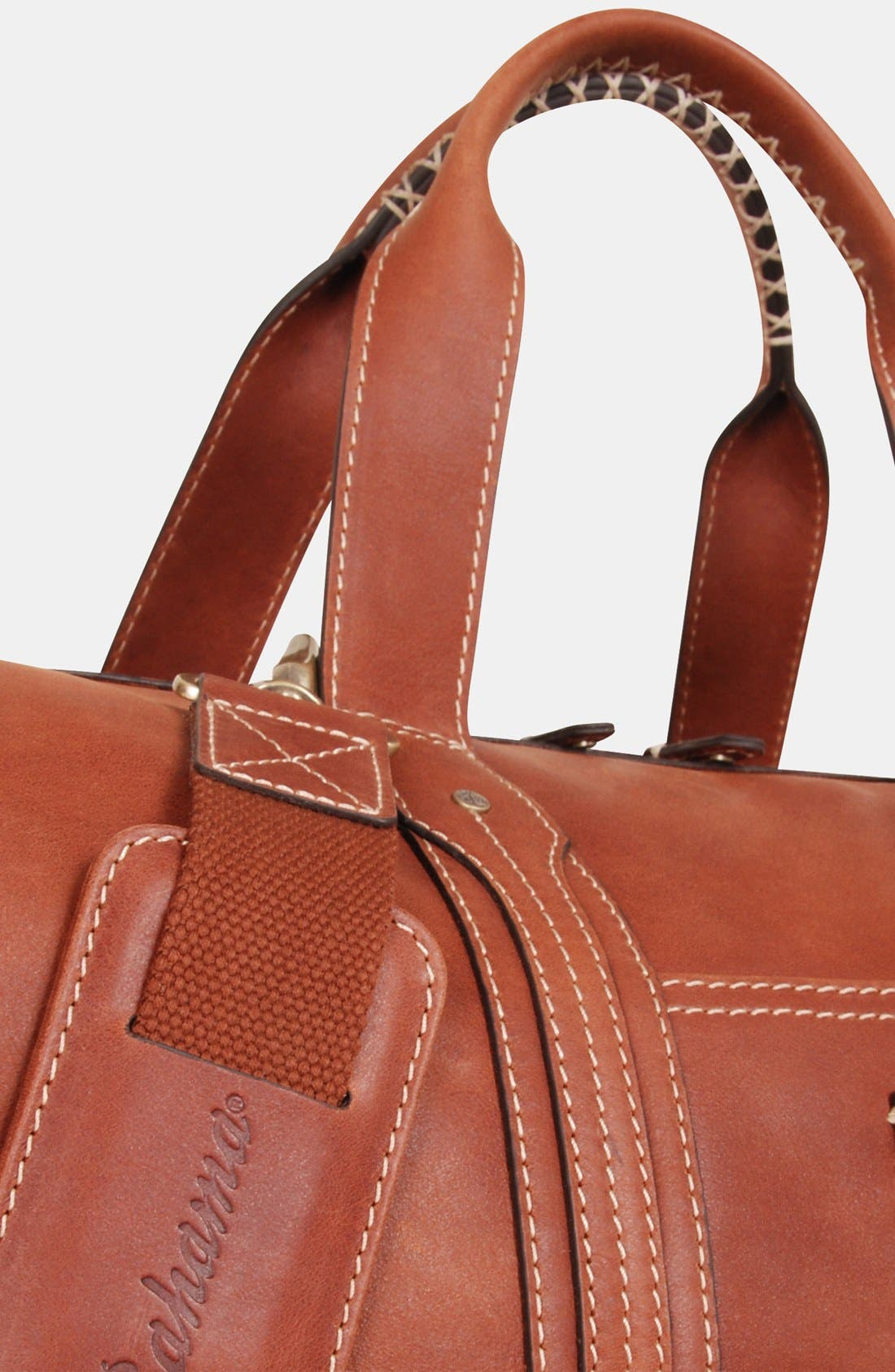 Alternate Image 4  - Tommy Bahama Leather Duffel Bag