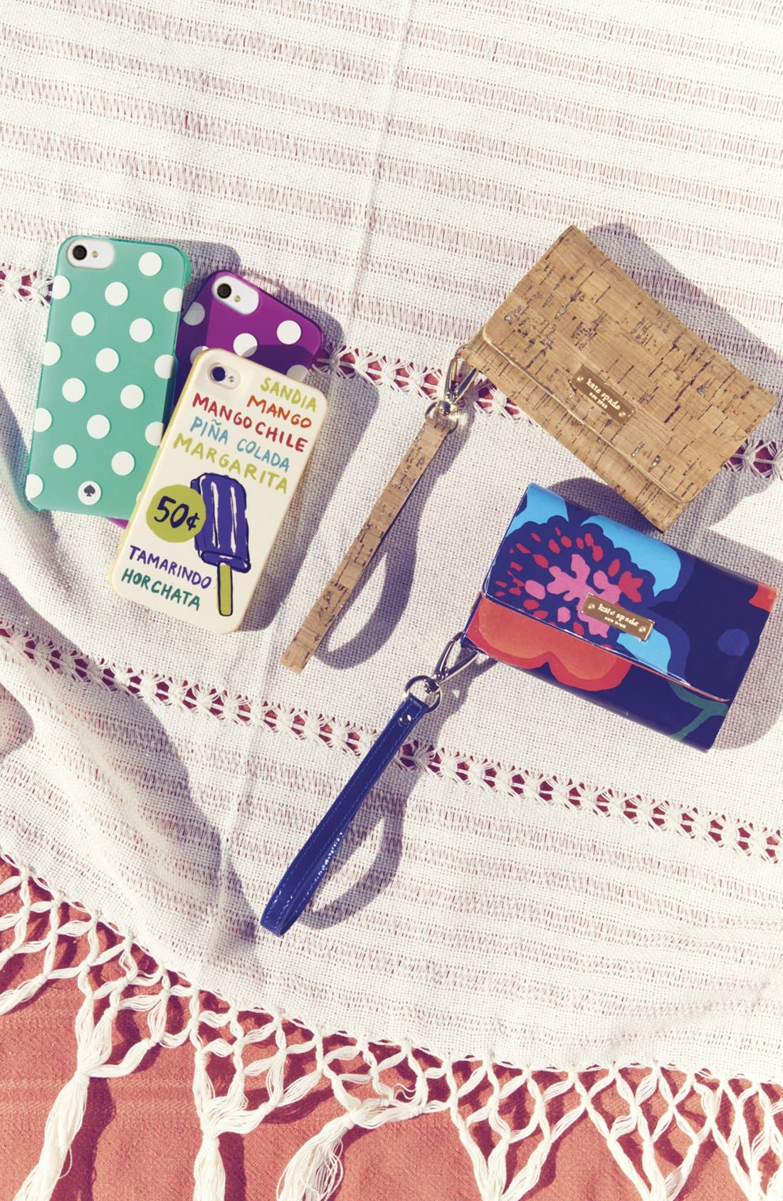 Alternate Image 5  - kate spade new york 'mexican floral' iPhone 5 & 5S wristlet