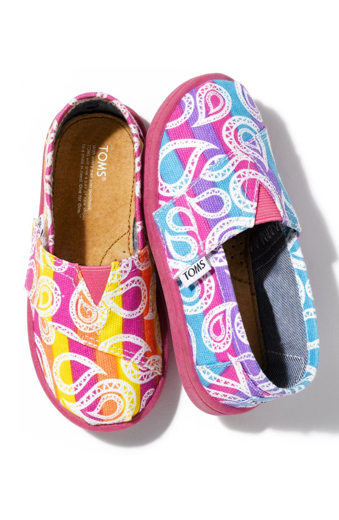 Alternate Image 5  - TOMS 'Classic Tiny - Rainbow Paisley' Slip-On (Baby, Walker & Toddler)