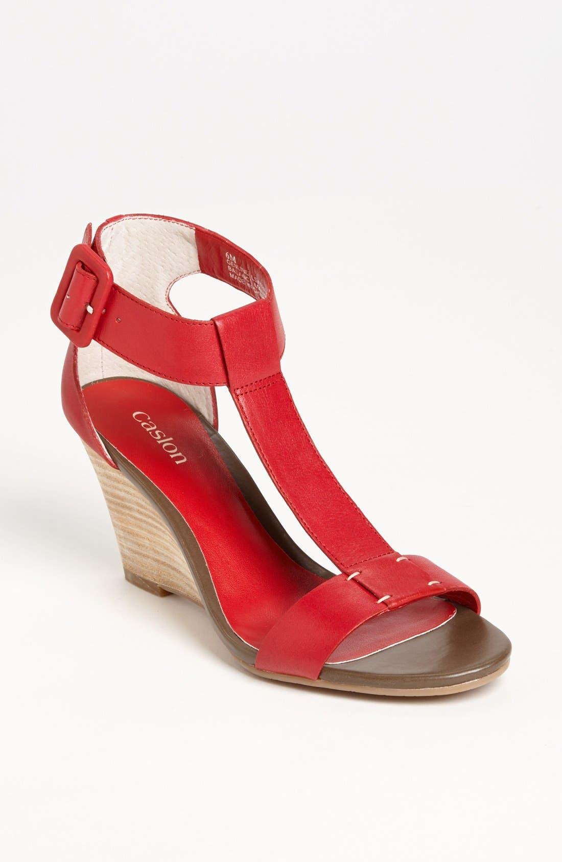 Main Image - Caslon® 'Ramona' T-Strap Wedge Sandal