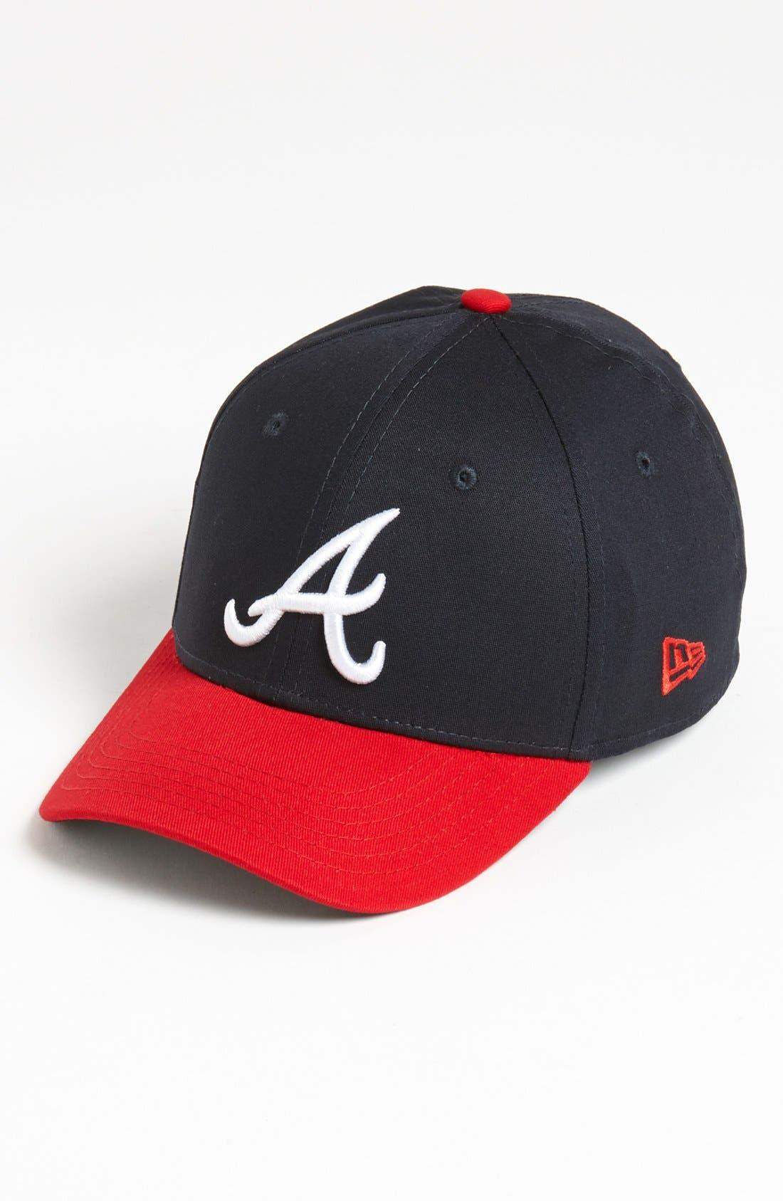 Alternate Image 1 Selected - New Era Cap 'Atlanta Braves - Tie Breaker' Baseball Cap (Big Boys)