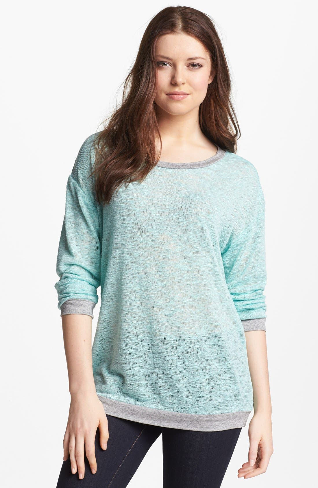 Alternate Image 1 Selected - Bobeau Burnout Knit Sweater