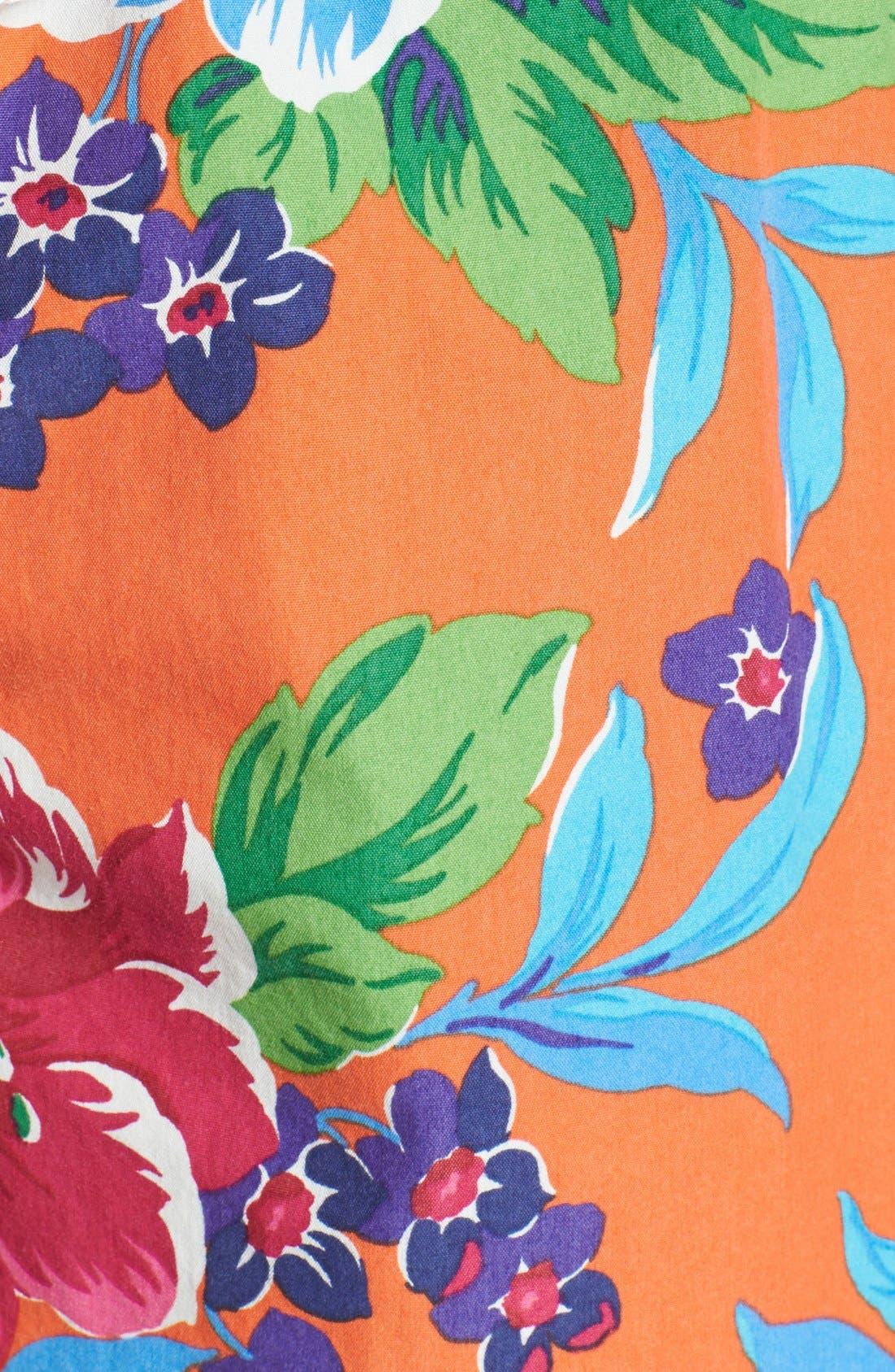 Alternate Image 2  - Polo Ralph Lauren 'Preppy Bouquet Traveler' Swim Trunks