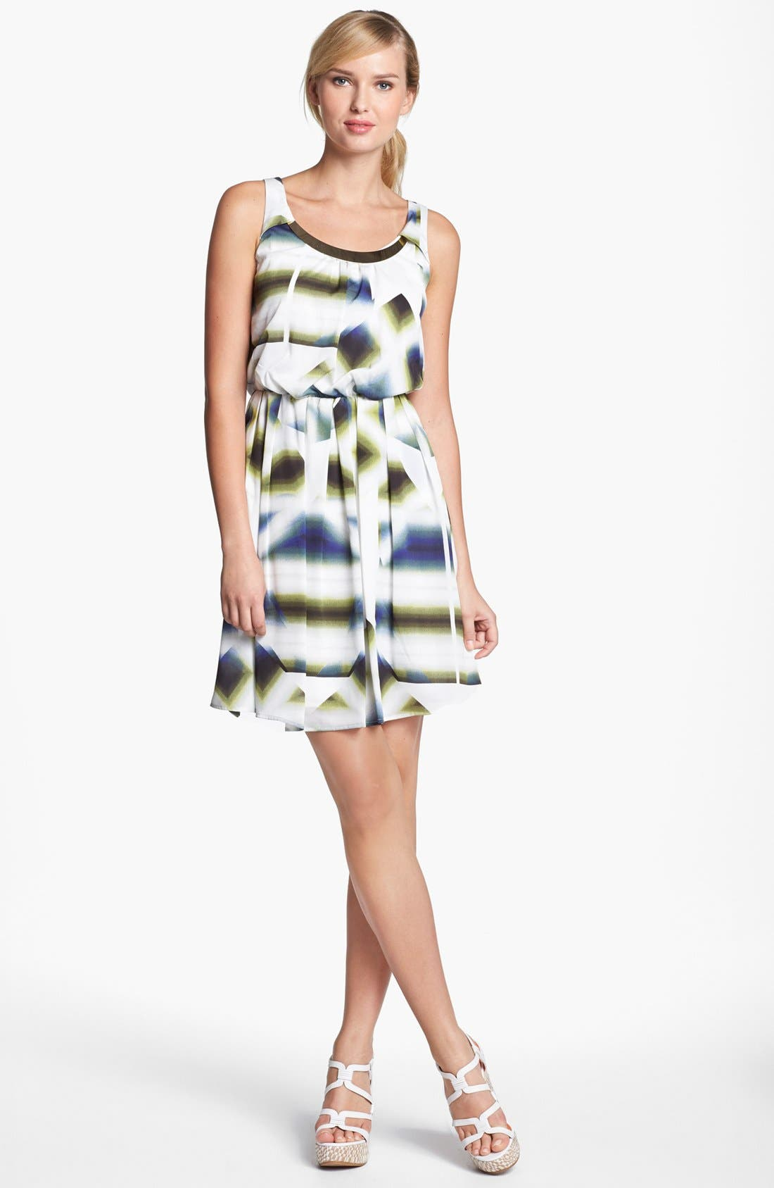 Alternate Image 1 Selected - Vince Camuto Metal Collar Dress