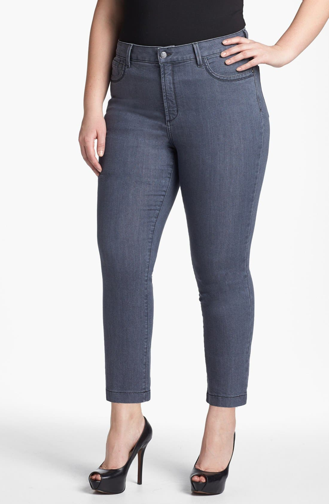 Main Image - NYDJ 'Audrey' Skinny Ankle Jeans (Plus Size)