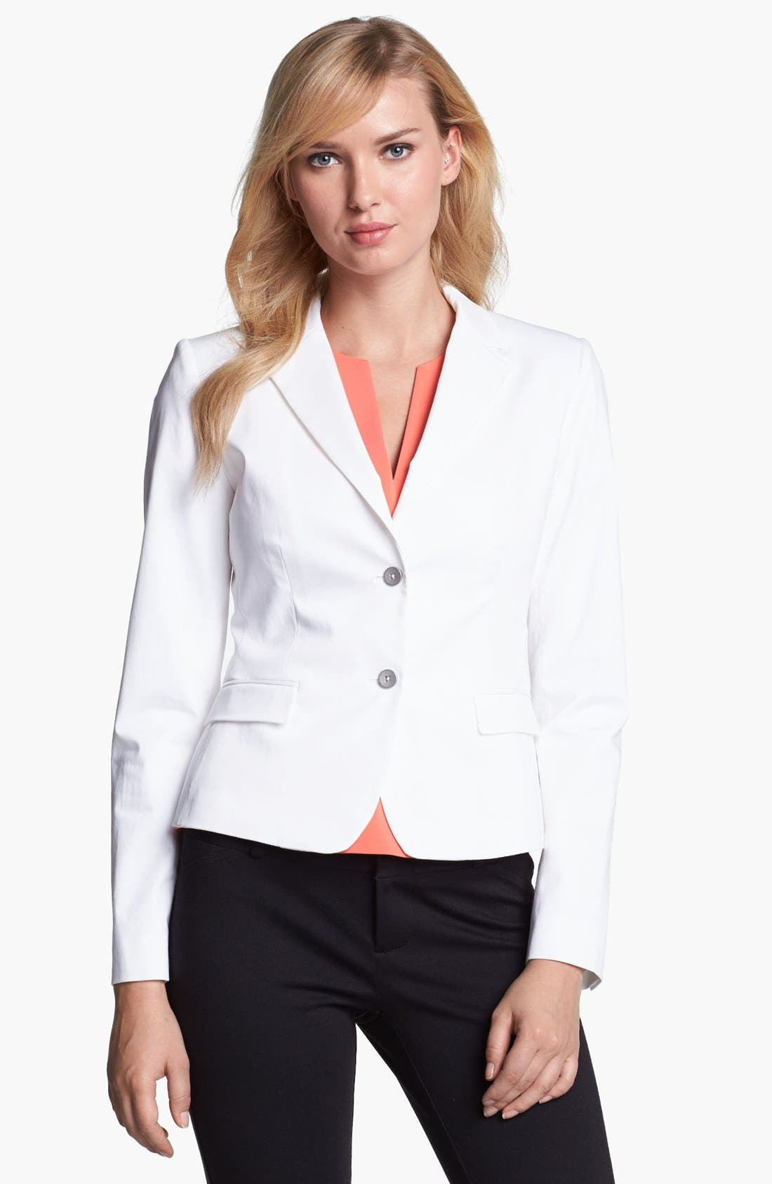 Main Image - Elie Tahari 'Rosie' Stretch Cotton Sateen Jacket