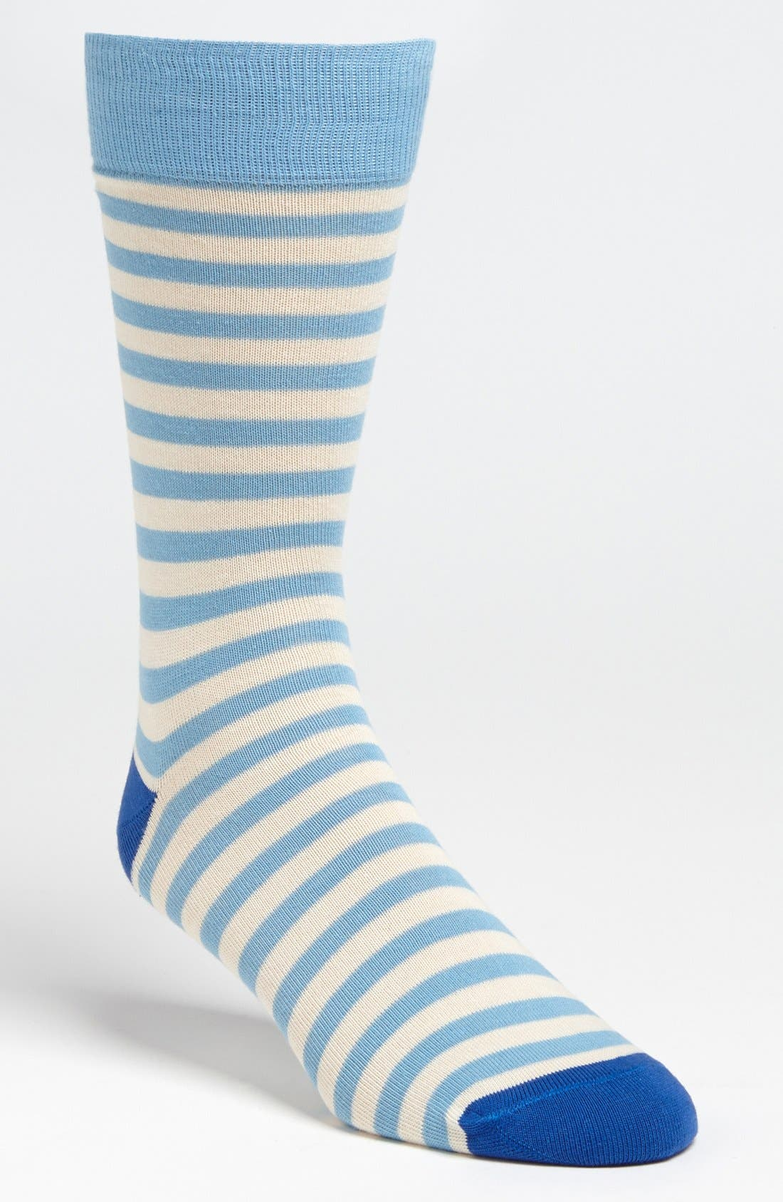 Alternate Image 1 Selected - Lorenzo Uomo Stripe Socks (3 for $27)