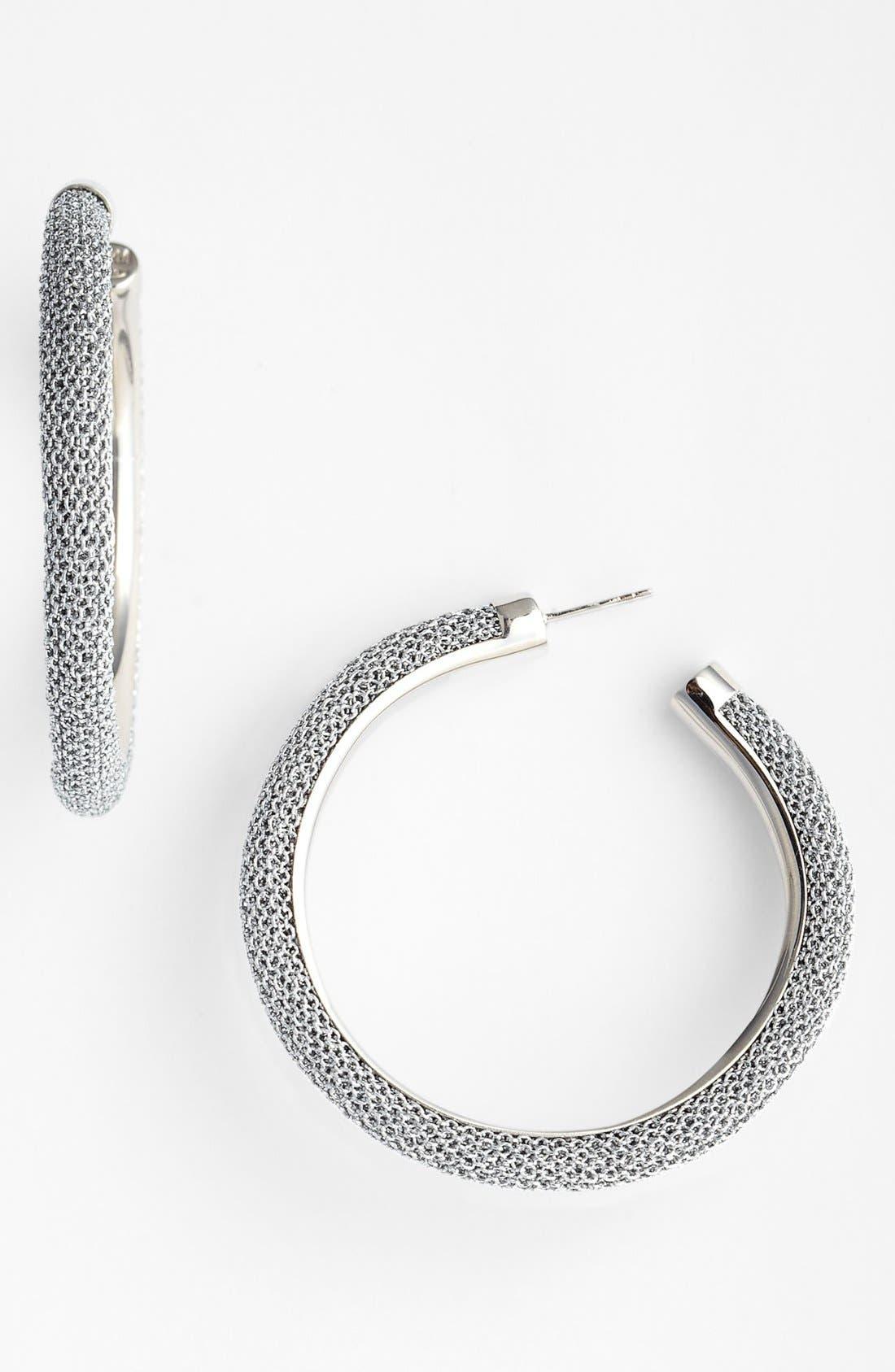 Alternate Image 1 Selected - Adami & Martucci 'Mesh' Large Hoop Earrings