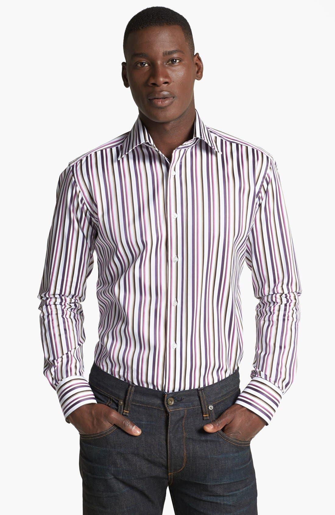 Alternate Image 1 Selected - Etro Stripe Print Cotton Shirt