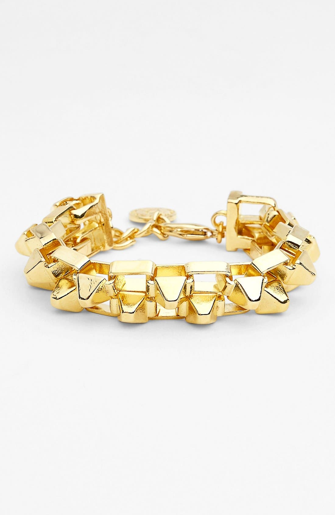 Alternate Image 1 Selected - BCBGeneration Studded Double Chain Bracelet
