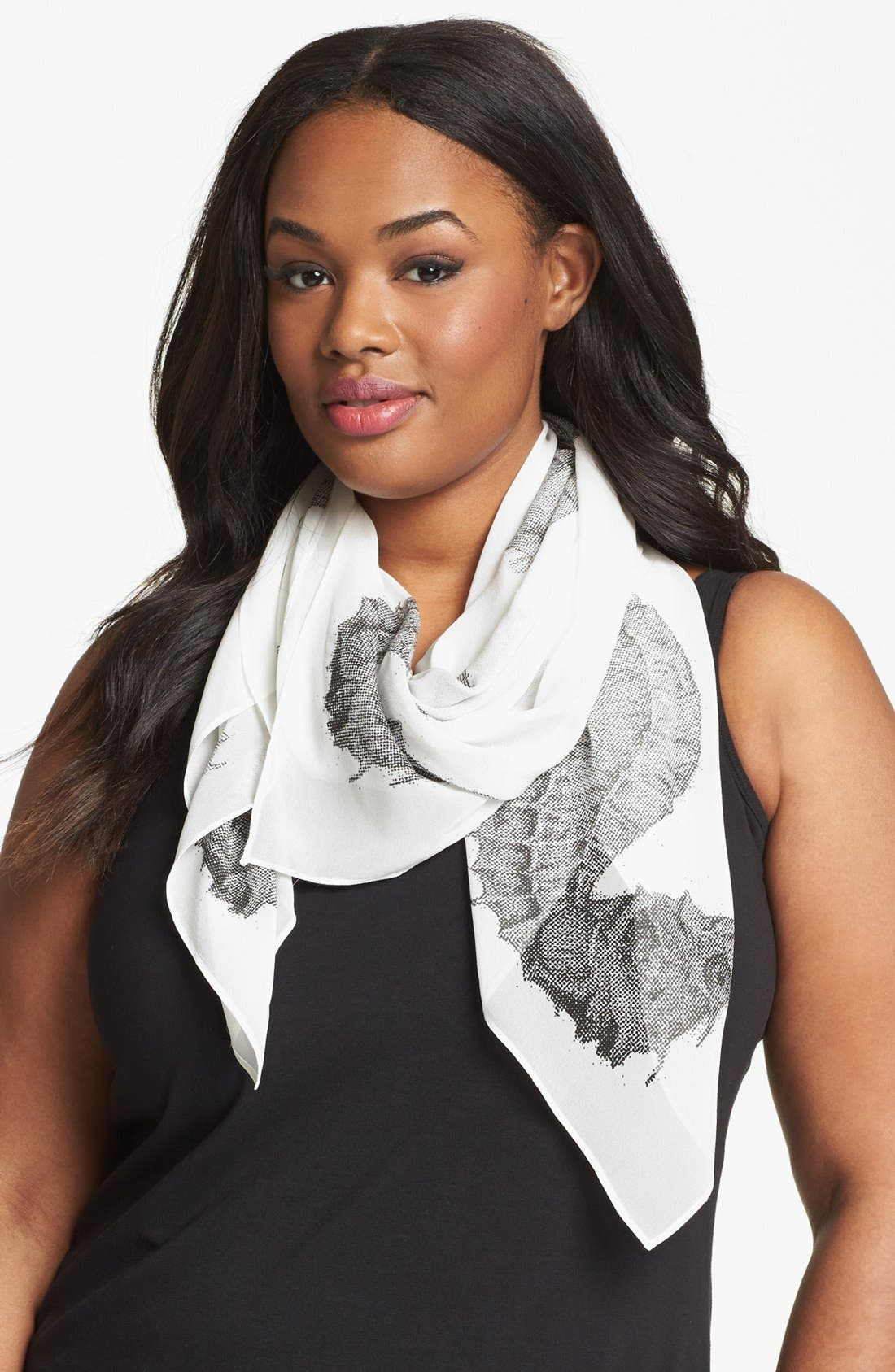 Alternate Image 1 Selected - Karen Kane Print Silk Scarf
