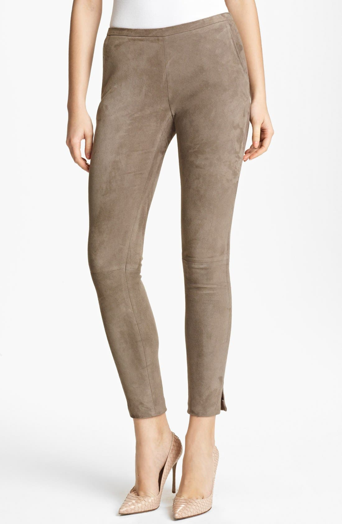Alternate Image 1 Selected - Fabiana Filippi Suede Leggings