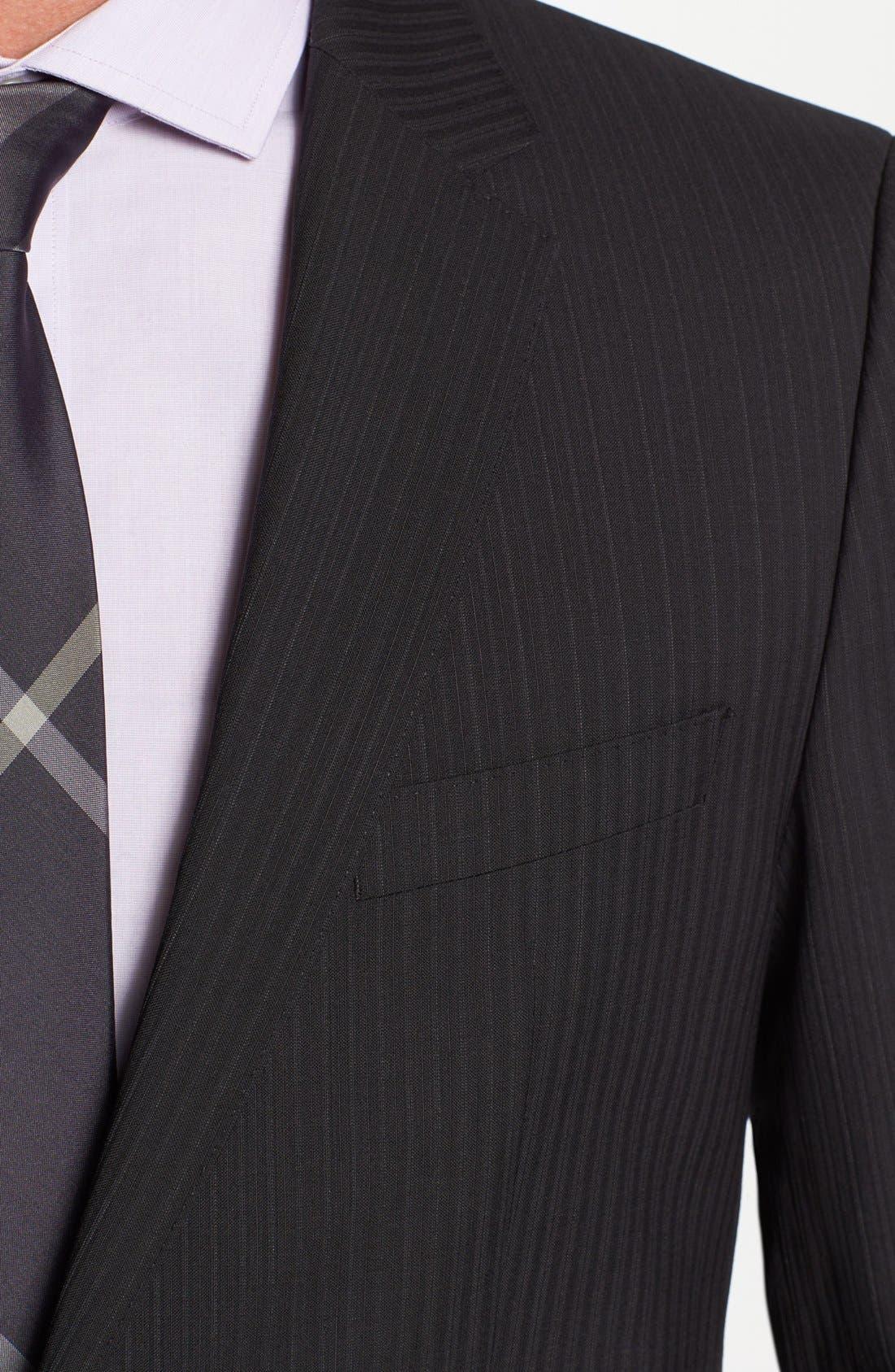 Alternate Image 2  - BOSS Black 'James/Sharp' Trim Fit Stripe Suit (Online Only)