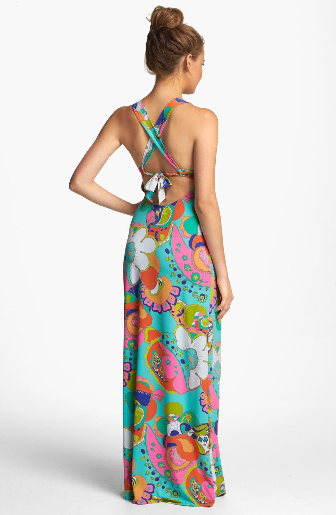 Alternate Image 2  - Trina Turk 'Sea Cove' Long Cover-Up Dress