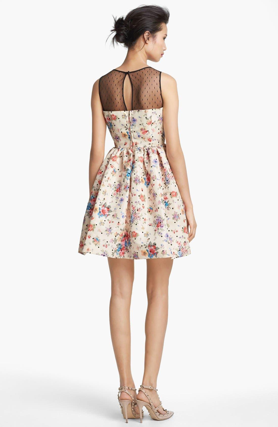 Alternate Image 2  - RED Valentino Flower & Polka Dot Print Dress