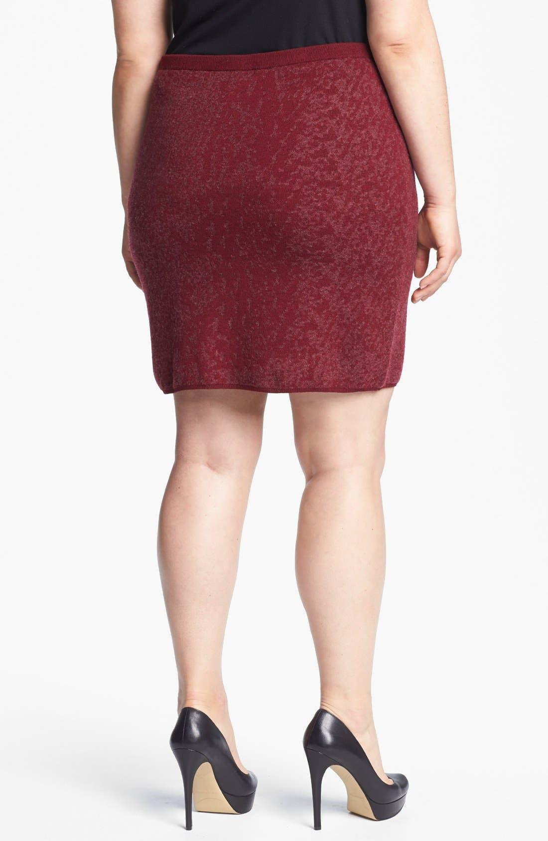 Alternate Image 2  - Eileen Fisher Print Skirt (Plus Size)