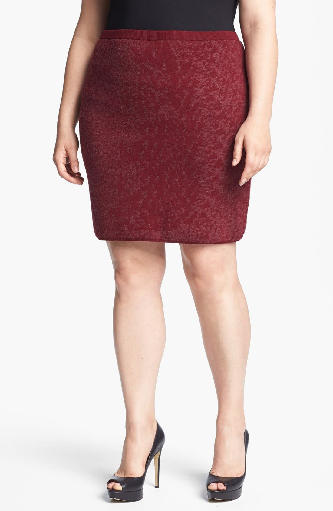 Main Image - Eileen Fisher Print Skirt (Plus Size)