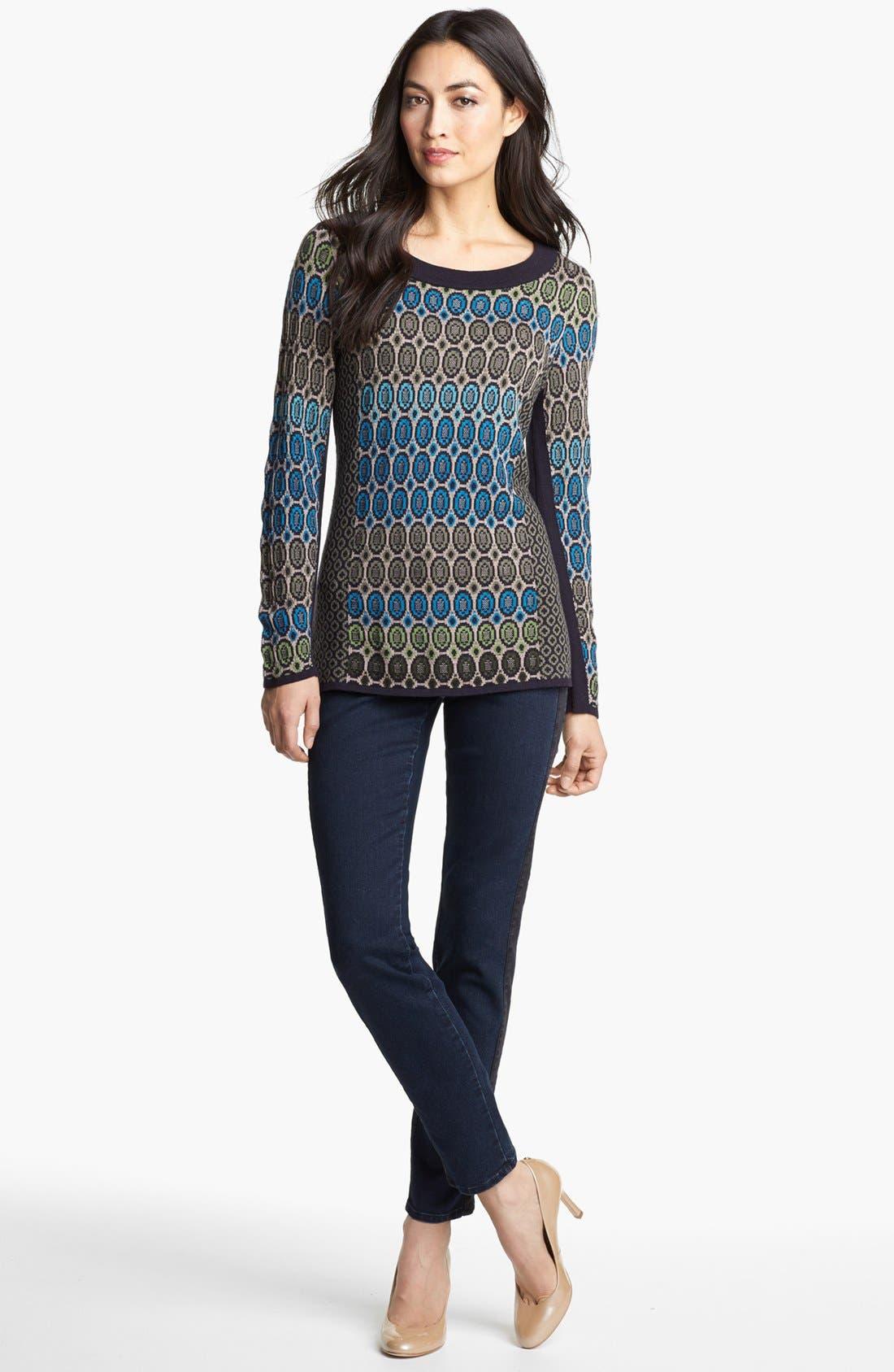 Alternate Image 2  - Nic + Zoe 'Geo Jacquard' Sweater