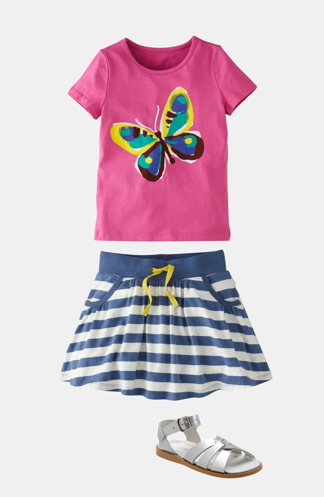 Alternate Image 2  - Mini Boden 'Colorful Carnival' Tee (Little Girls & Big Girls)