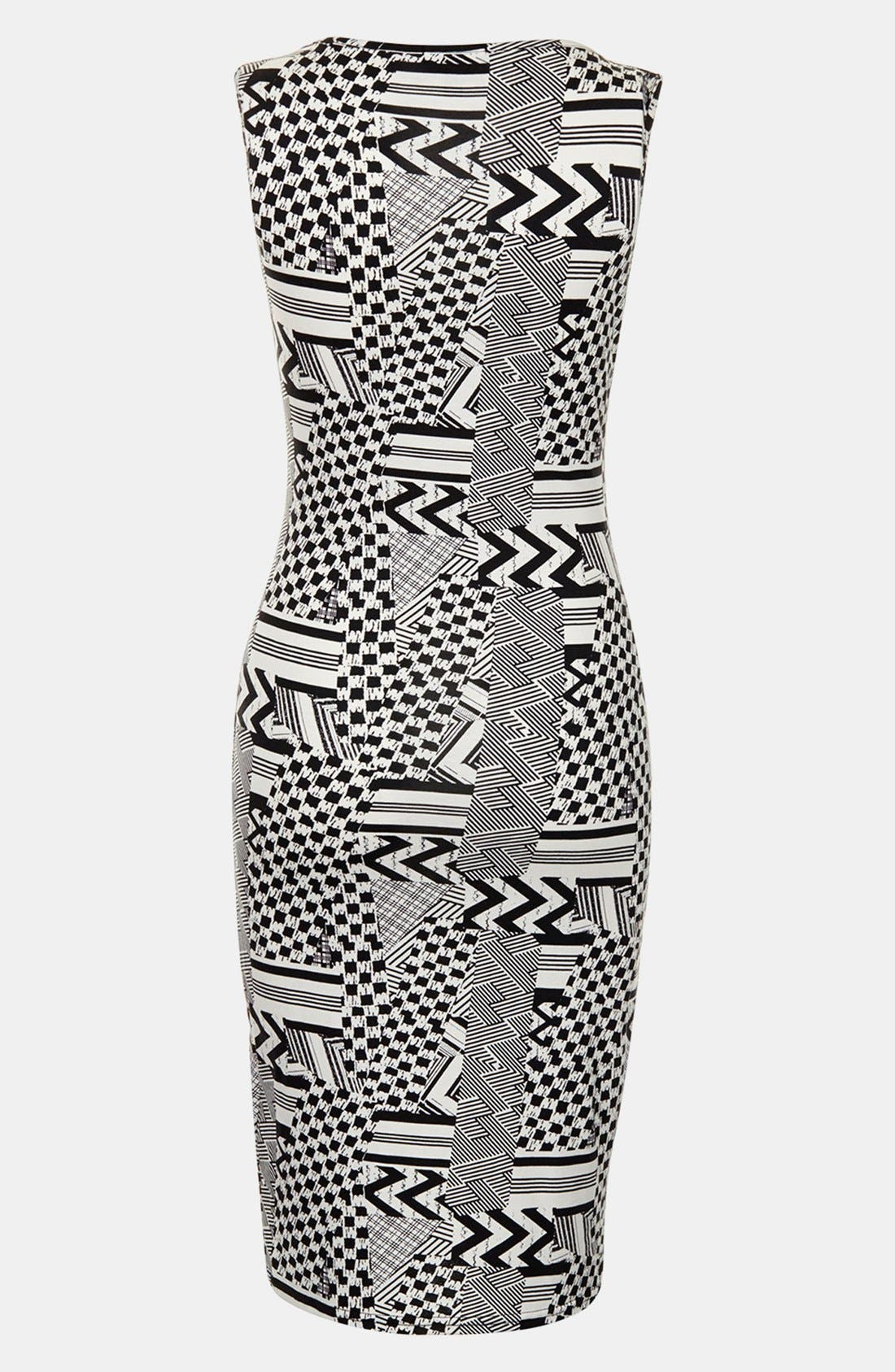 Alternate Image 2  - Topshop Jigsaw Body-Con Maternity Dress