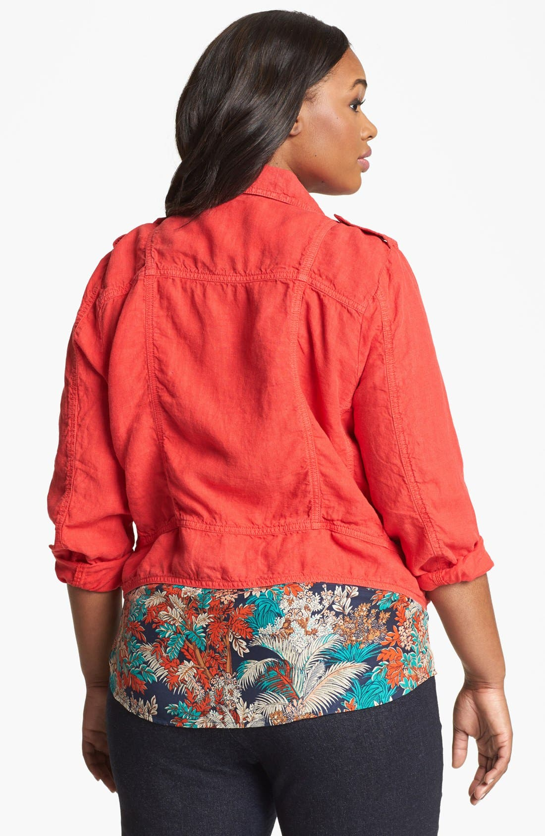 Alternate Image 2  - Lucky Brand Moto Jacket (Plus Size)