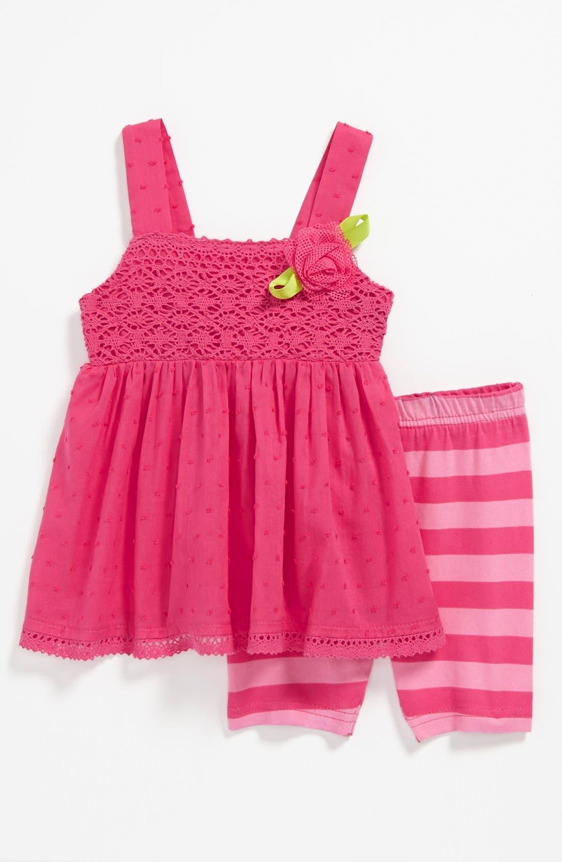 Alternate Image 1 Selected - Sweet Heart Rose Tunic & Shorts (Baby)