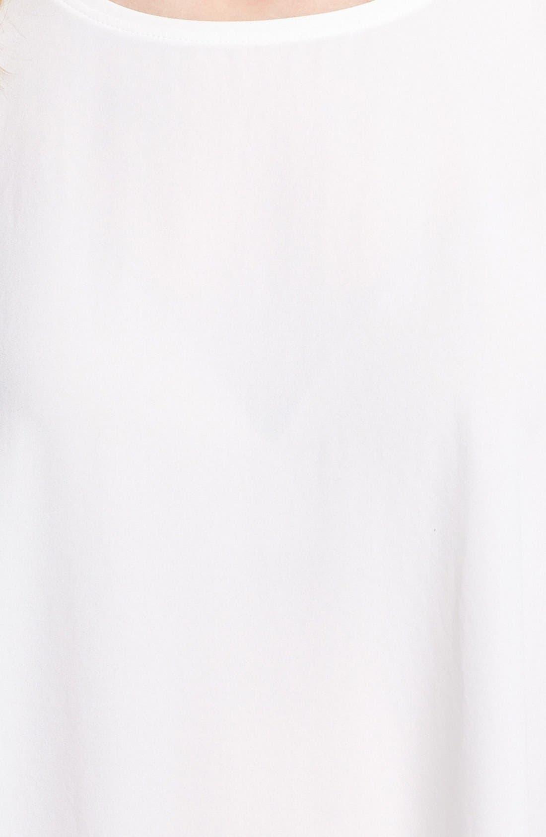 Alternate Image 3  - Adrianna Papell Short Sleeve Pleat Back Blouse