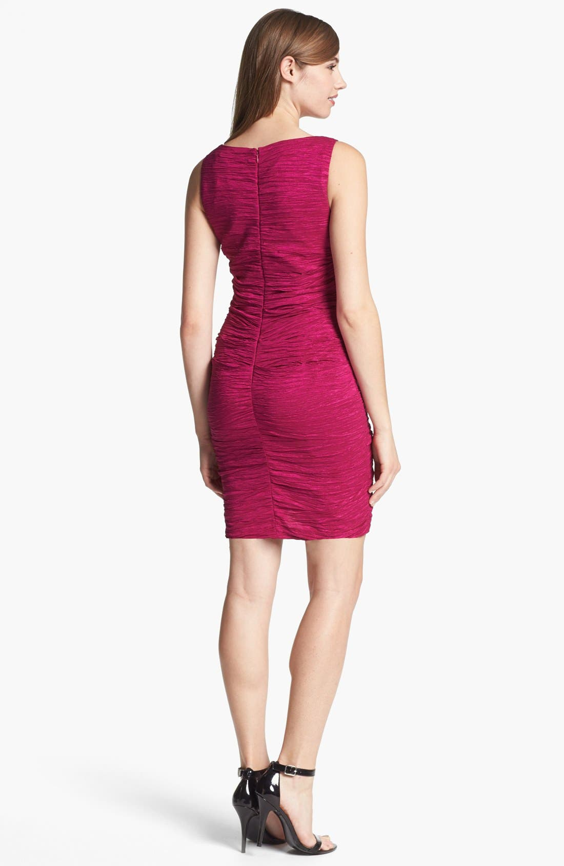 Alternate Image 2  - Calvin Klein Taffeta Sheath Dress