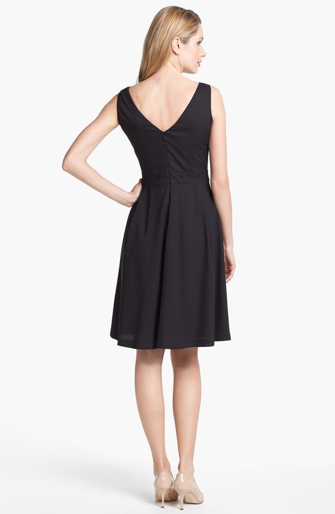 Alternate Image 2  - Patra Embellished Sleeveless Fit & Flare Dress (Regular & Petite)