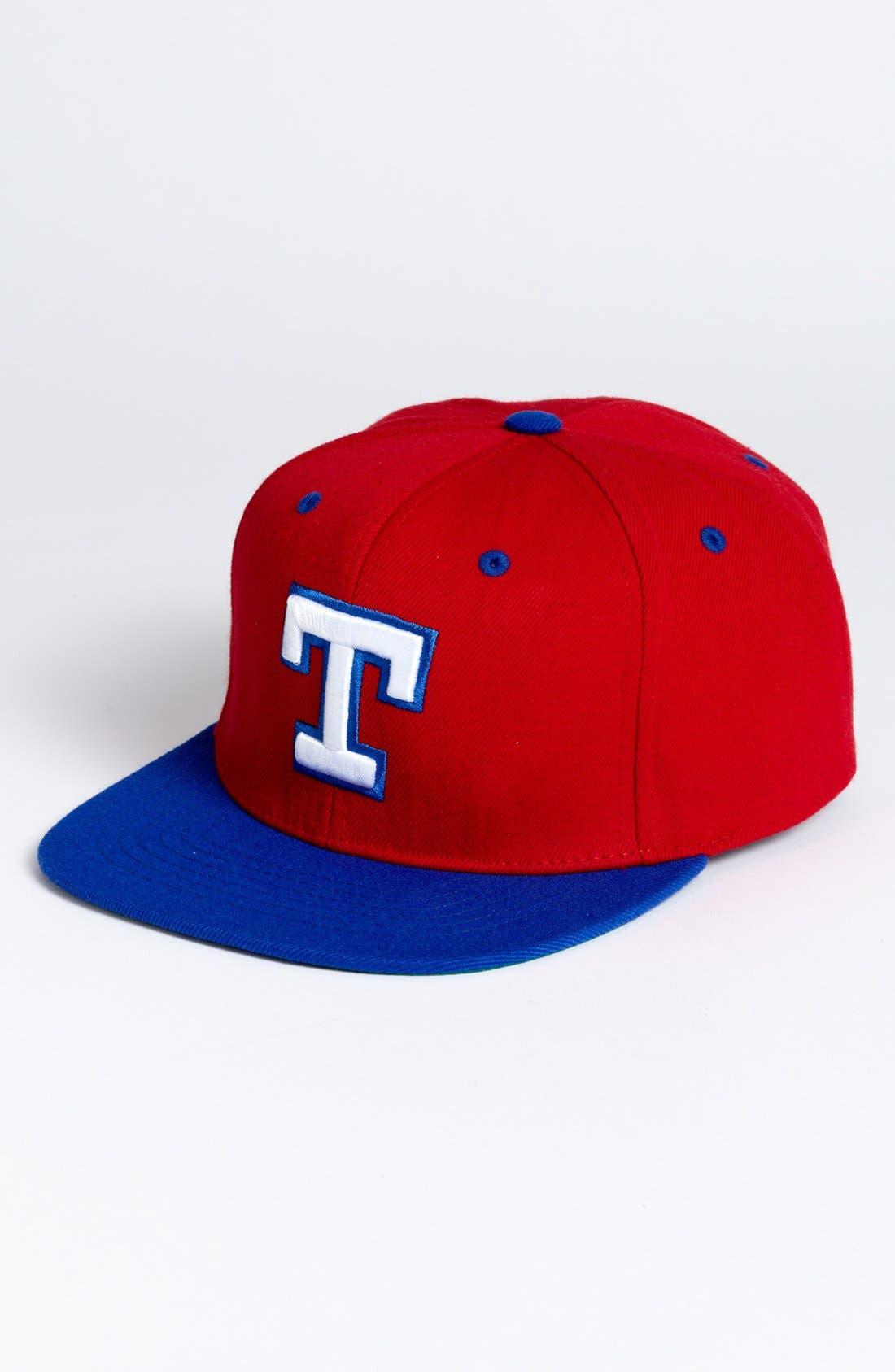 Main Image - American Needle 'Texas Rangers - Back 2 Front' Snapback Baseball Cap
