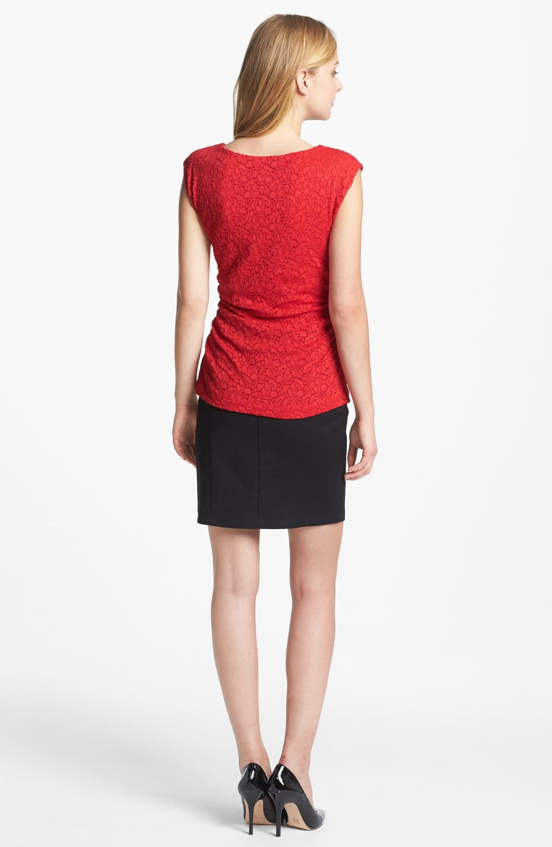 Alternate Image 5  - Vince Camuto Lace Top