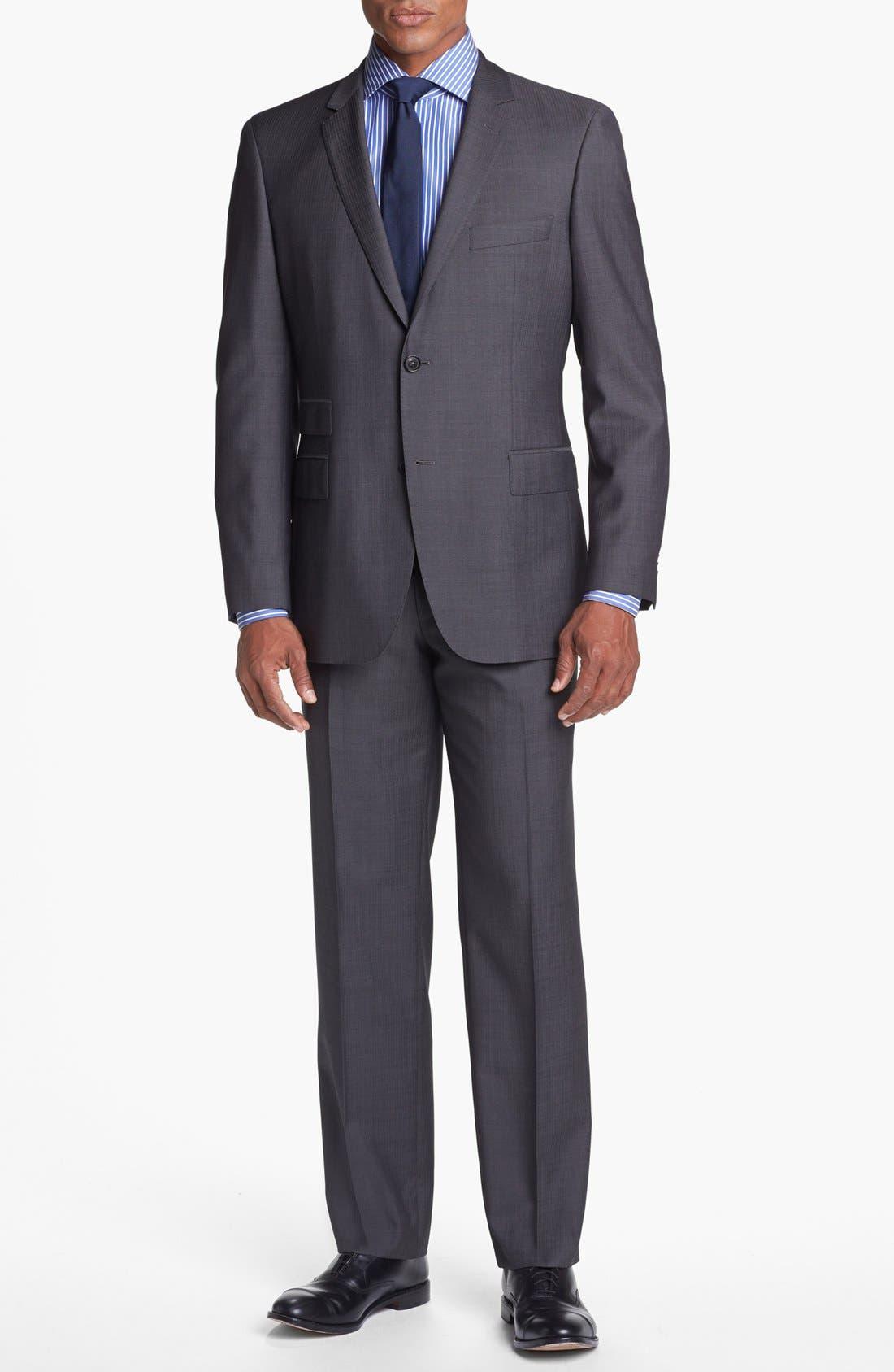 Alternate Image 1 Selected - BOSS HUGO BOSS 'Edison/Power' Classic Fit Wool Suit