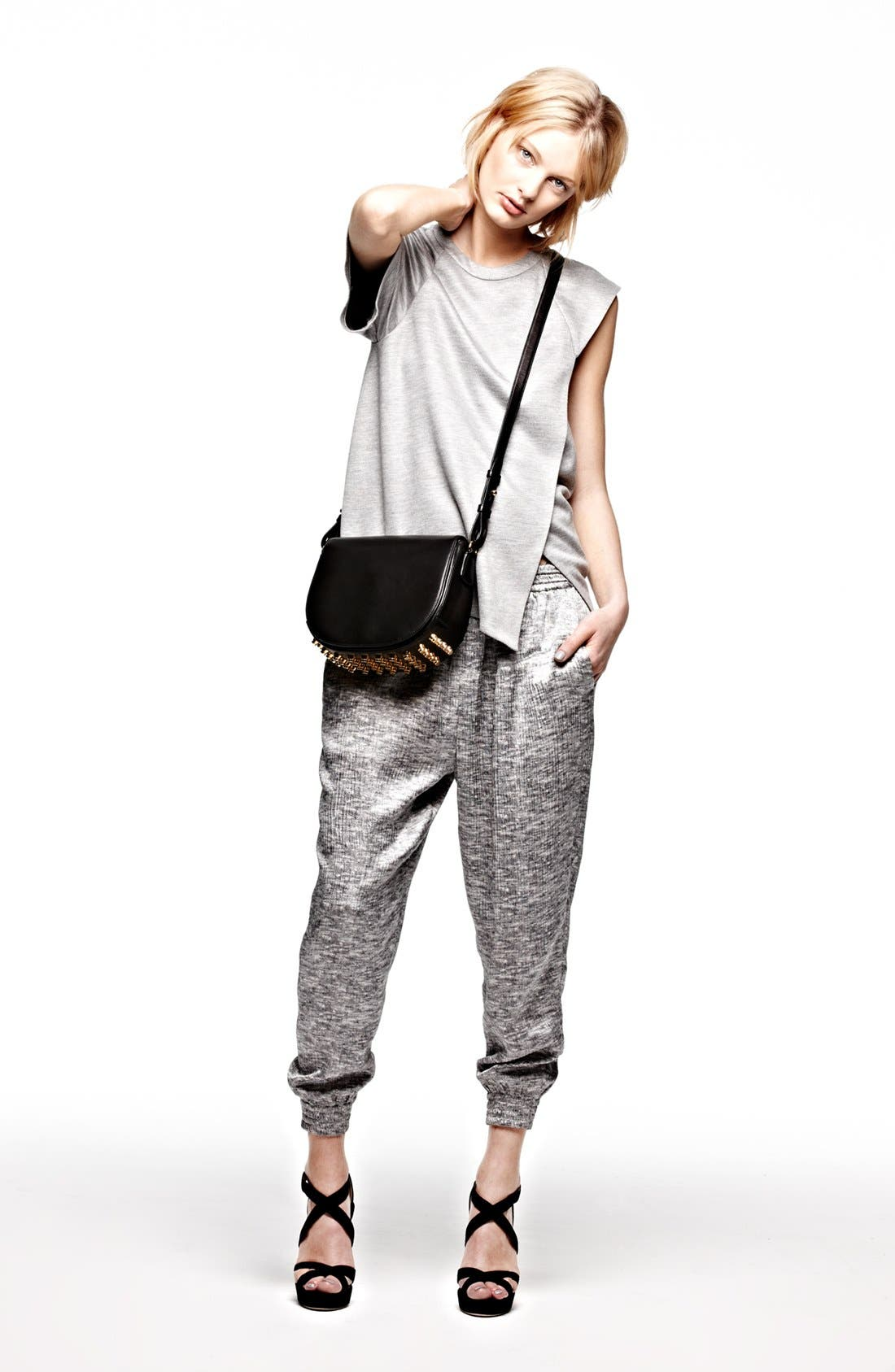 Alternate Image 5  - Alexander Wang Mélange Print Silk Drawstring Pants