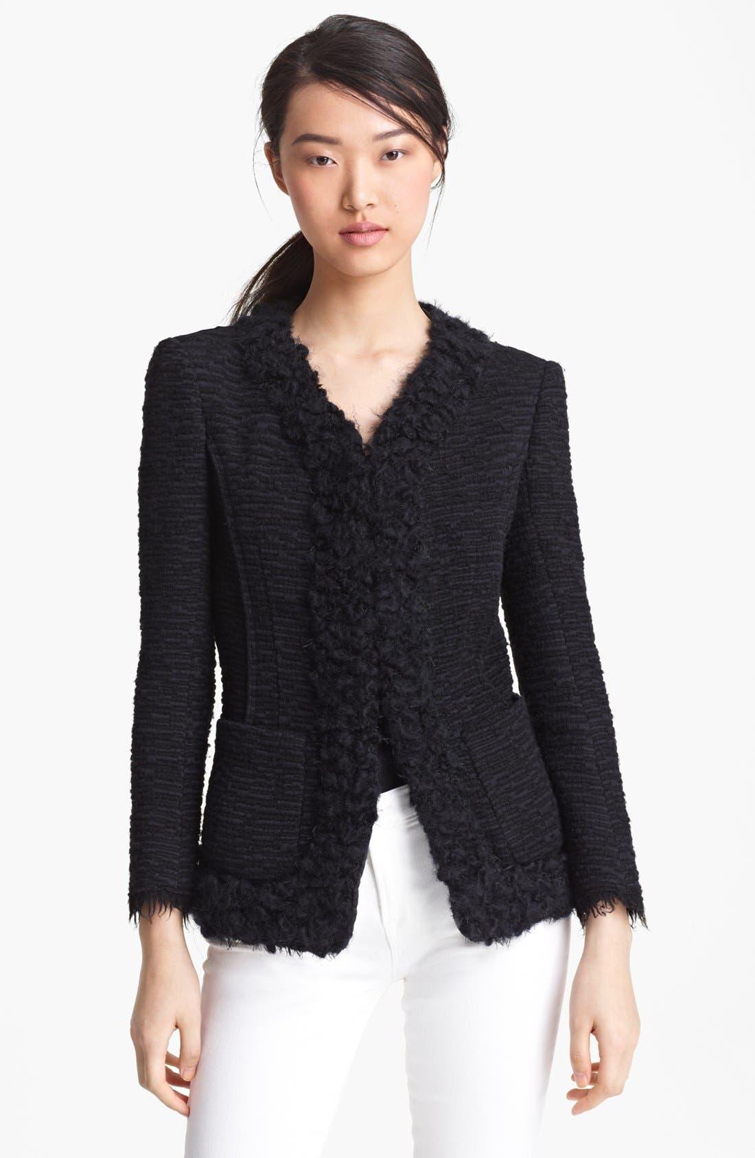 Main Image - Nina Ricci Tweed Sweater Jacket