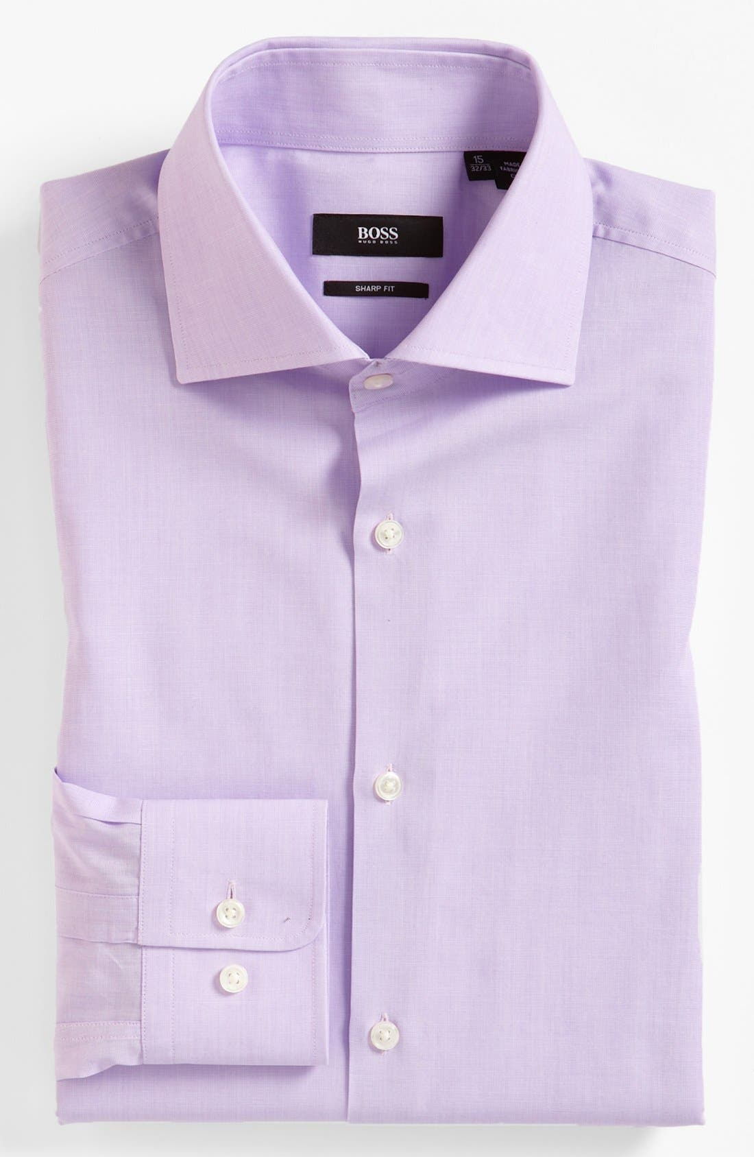 Alternate Image 1 Selected - BOSS 'Miles' Sharp Fit End-on-End Dress Shirt