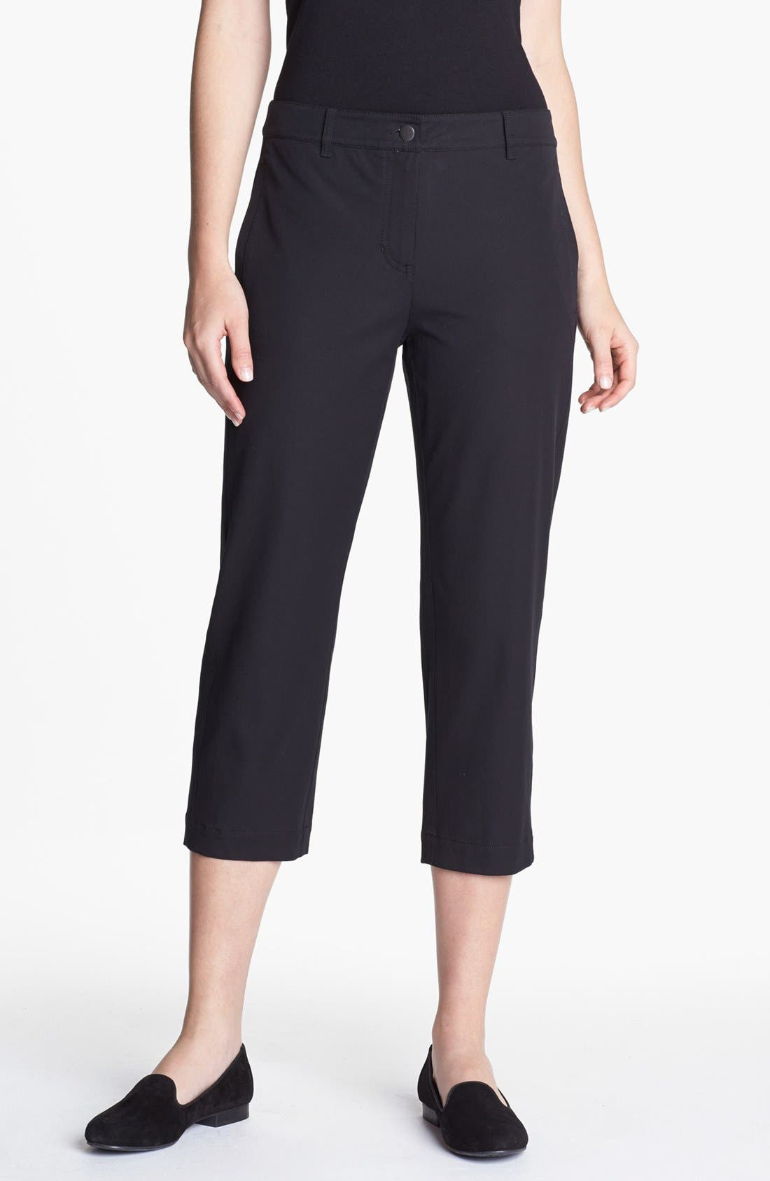 Alternate Image 1 Selected - Eileen Fisher Slim Capri Pants