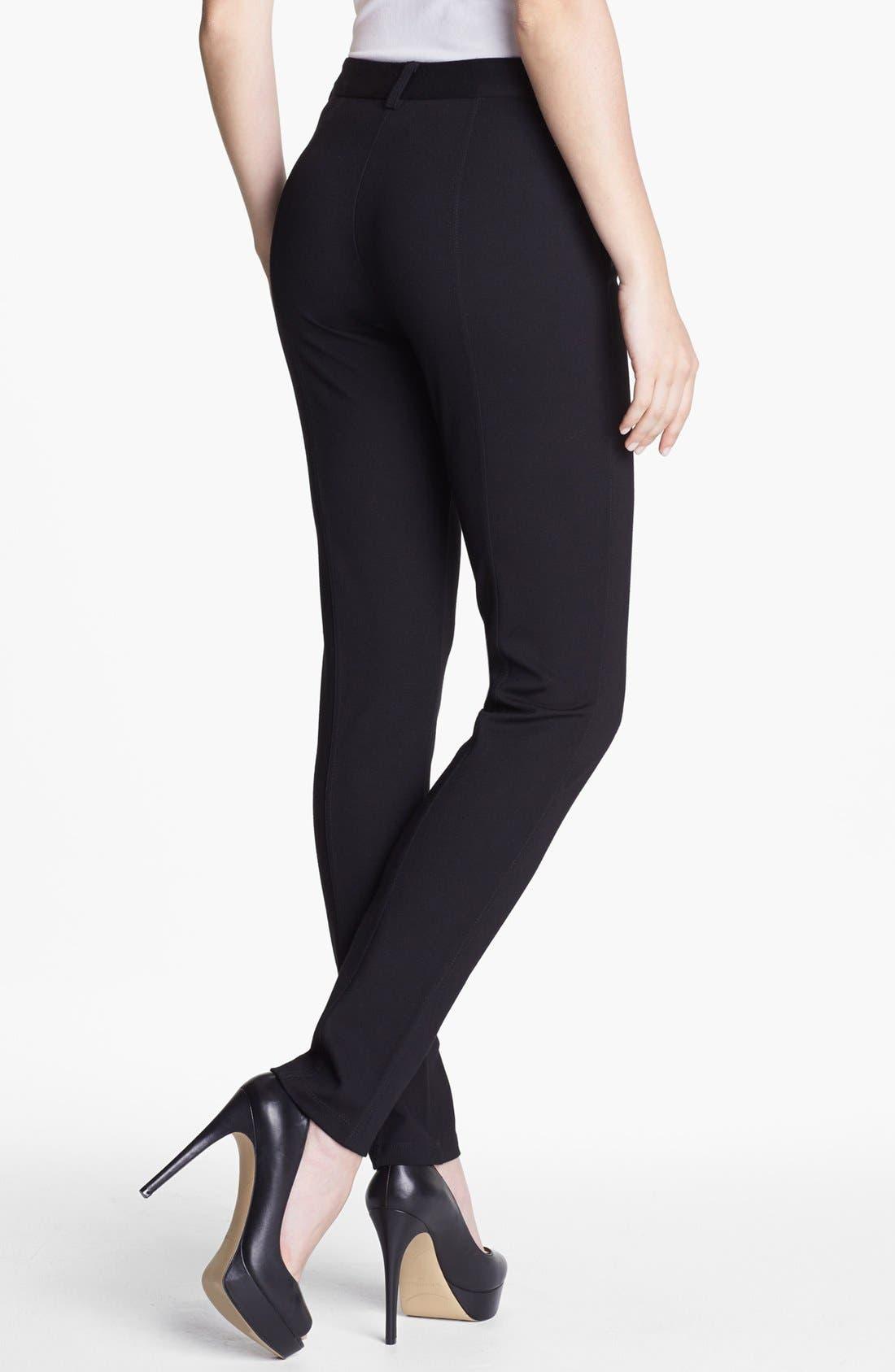 Alternate Image 3  - NYDJ Zip Trim Skinny Stretch Ponte Pants