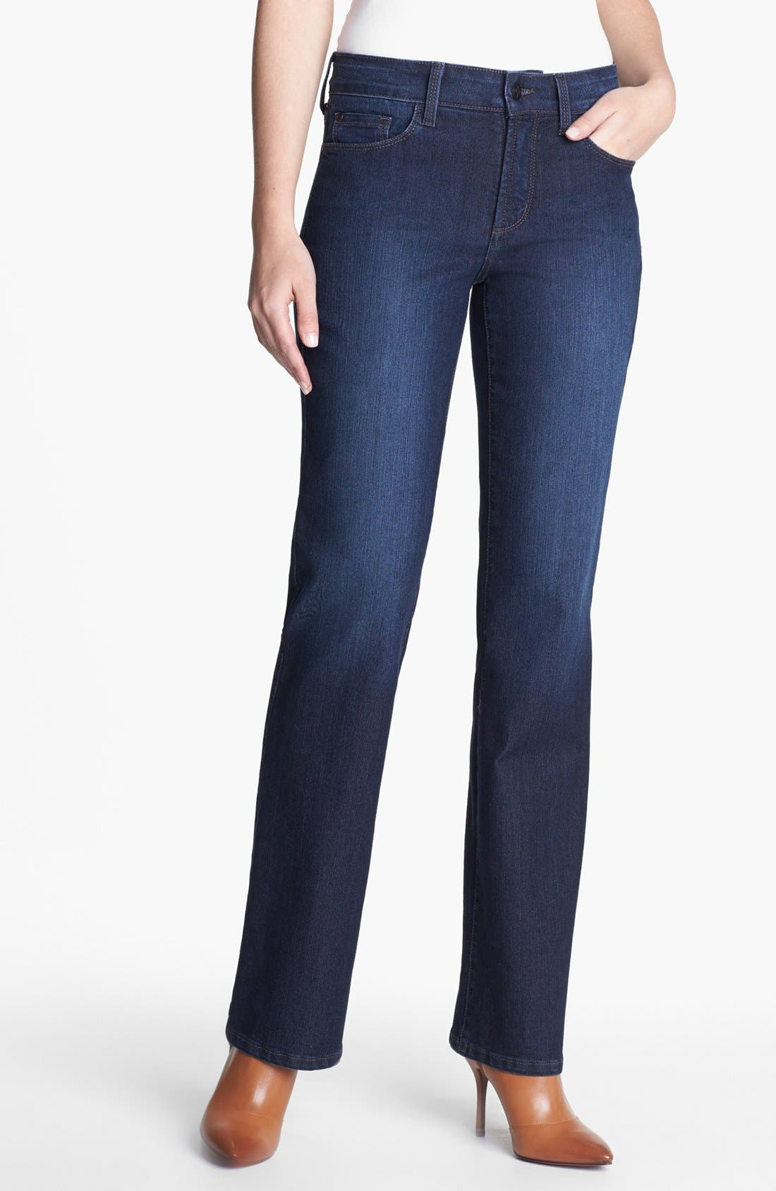 Main Image - NYDJ 'Barbara' Embellished Stretch Bootcut Jeans (Online Only)