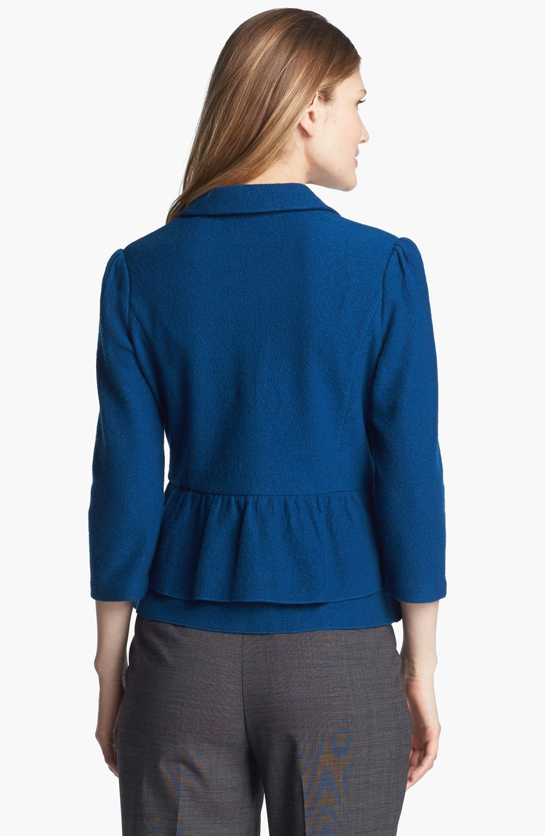 Alternate Image 2  - Classiques Entier® Boiled Wool Peplum Sweater Jacket