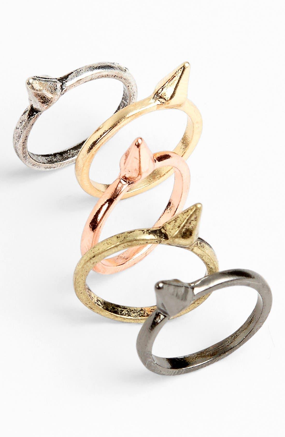 Main Image - BP. 'Cone' Rings (Set of 5)