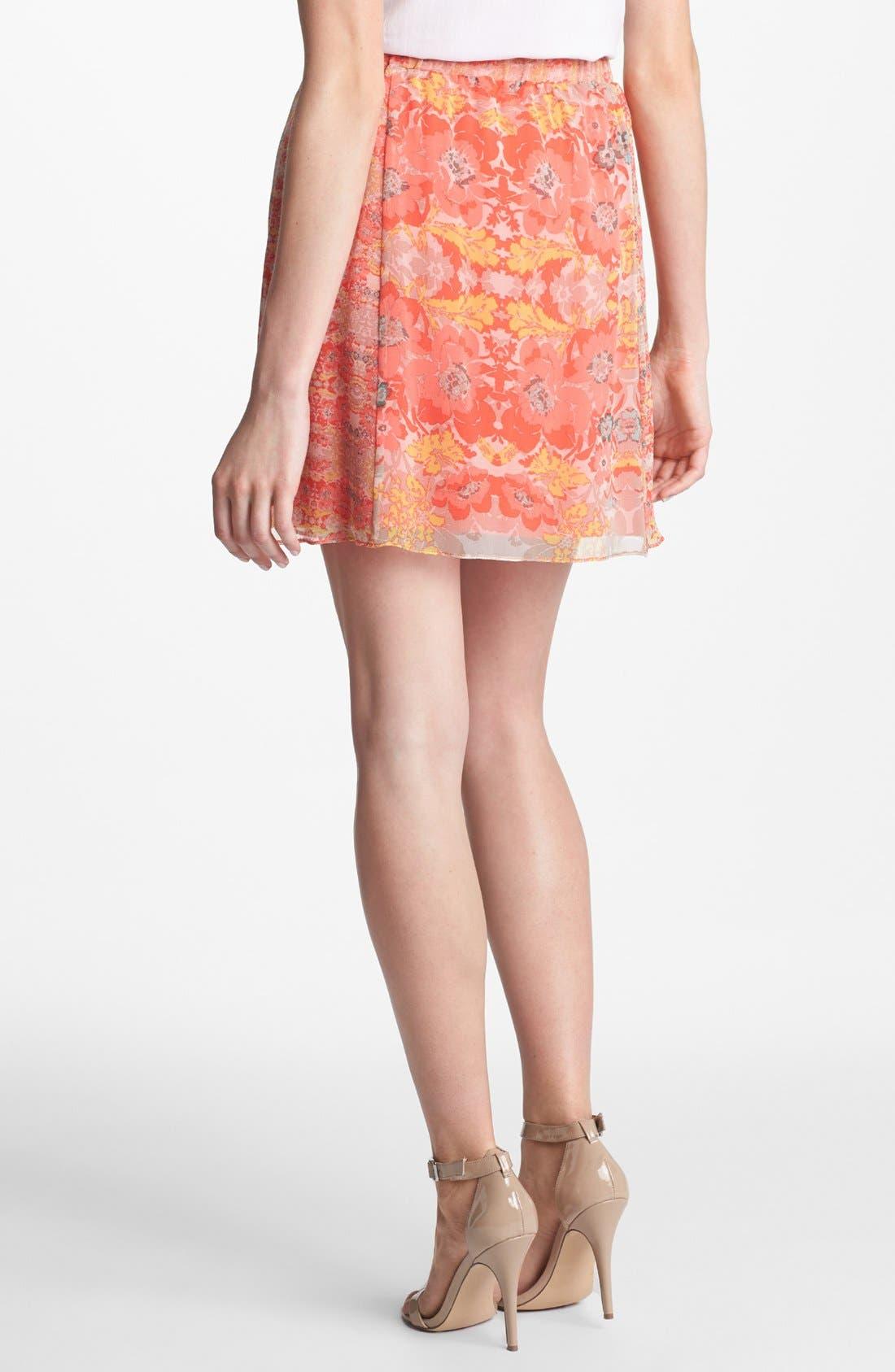 Alternate Image 2  - Ella Moss Floral Print Silk Skirt