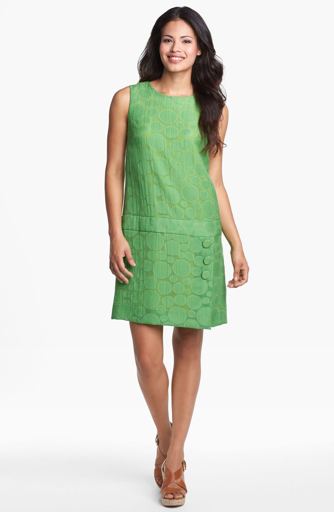 Alternate Image 1 Selected - Tahari Jacquard Drop Waist Shift Dress