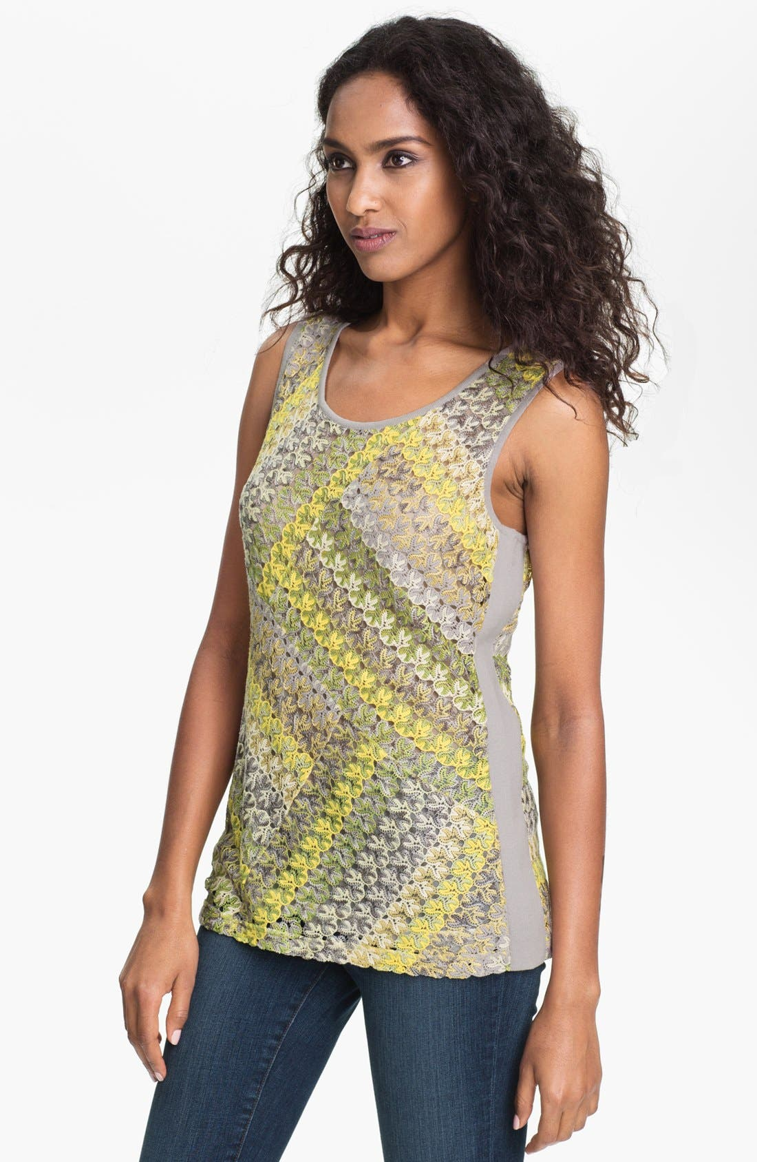 Alternate Image 1 Selected - Nic + Zoe 'Lace Weave' Tank (Petite)