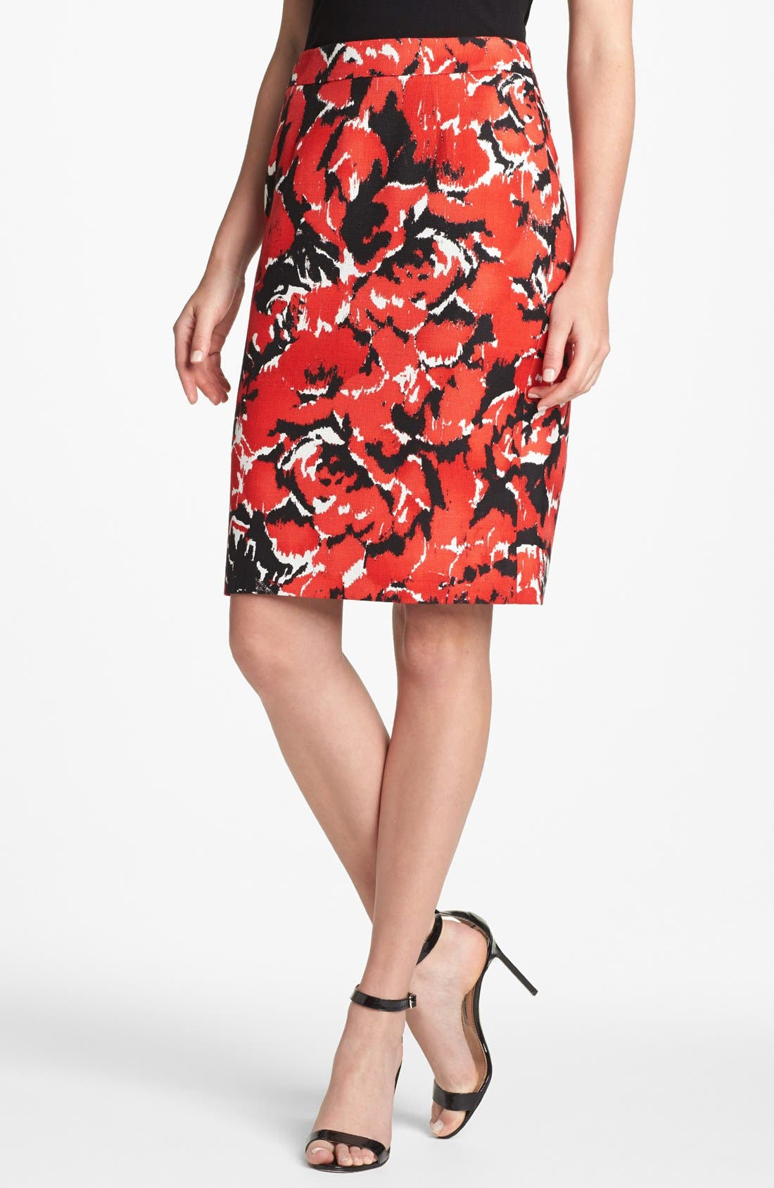 Alternate Image 1 Selected - Classiques Entier® Dobby Print Skirt
