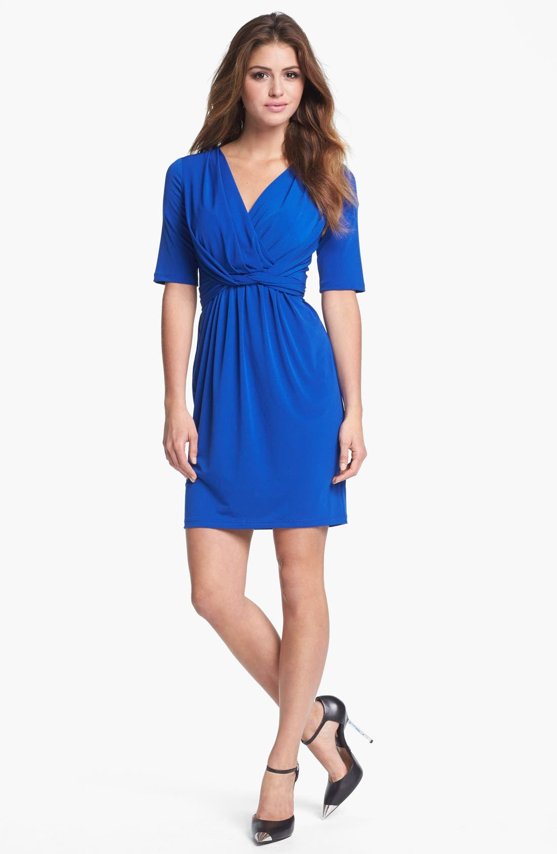 Alternate Image 1 Selected - Ivy & Blu Knot Front Jersey Dress (Petite)