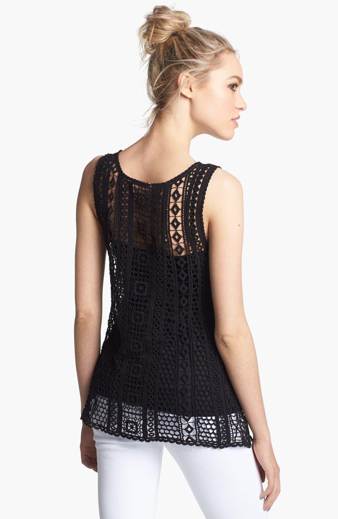 Alternate Image 2  - Ella Moss 'Hailee' Crochet Tank