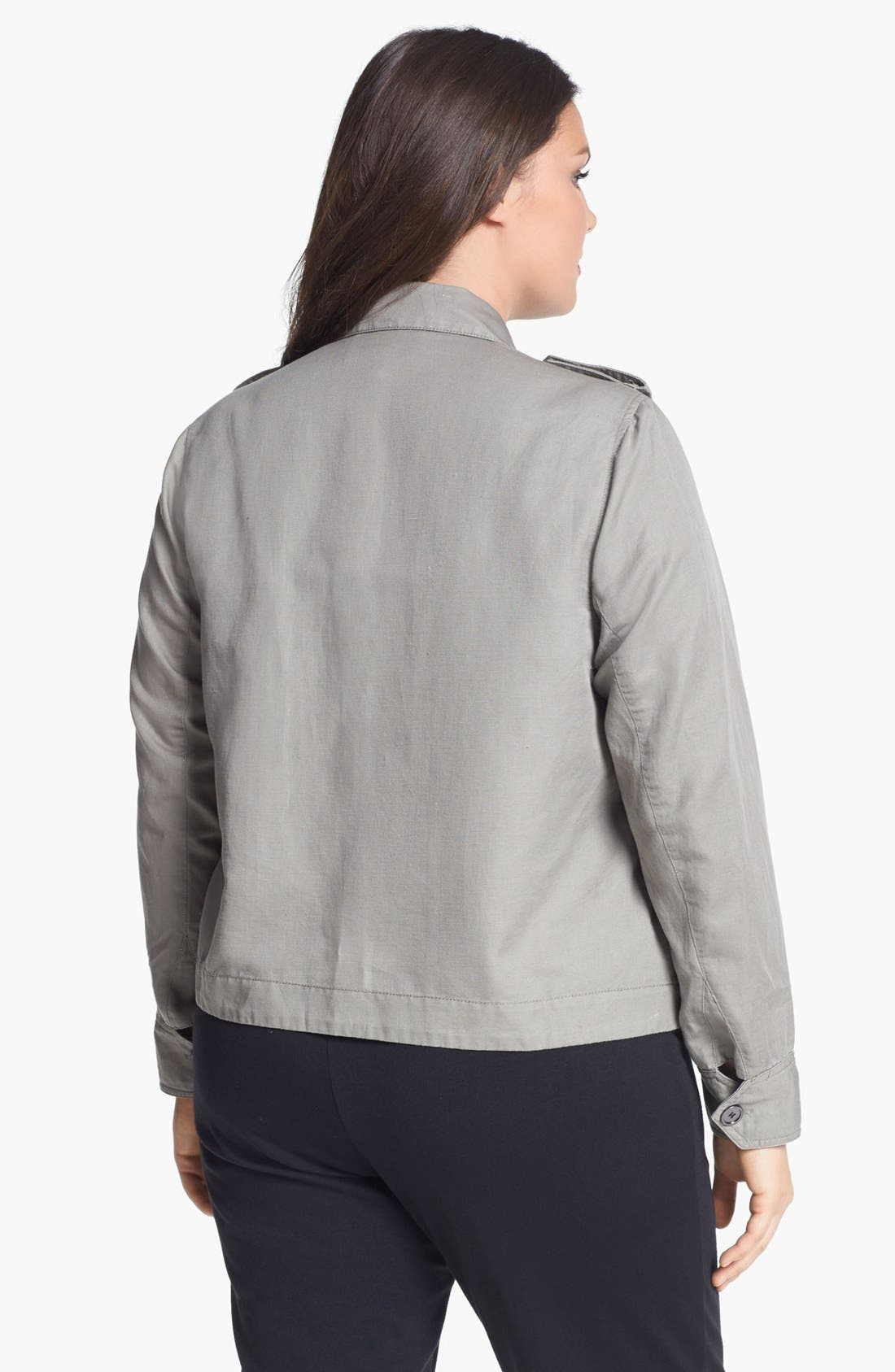 Alternate Image 2  - Two by Vince Camuto Utility Jacket (Plus Size)